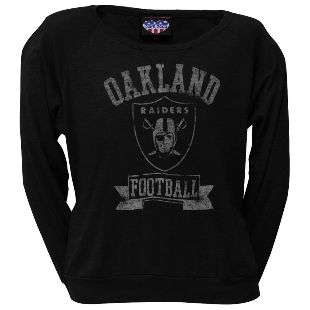 Oakland Raiders - Vintage Logo Juniors Long Sleeve T-Shirt - Large
