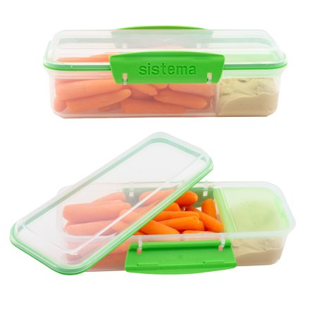 Sistema (2 Pack) Meal Prep Containers Reusable BPA Free Lunch Containers With Dividers For Lunch Box Sandwich Container Set](Sandwich Platter Containers)