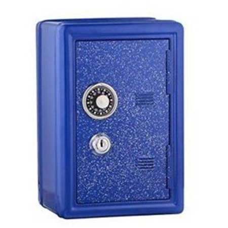glitter safe bank  mini locker with glitter - kids storage locker (blue) (Mini Locker)