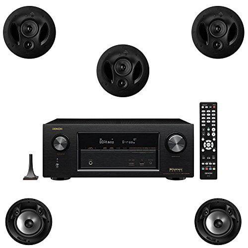 Polk Audio 90RT 5 Channel Speaker Package with 80FXRT and Denon AVRX2300W AV Receiver by Polk Audio