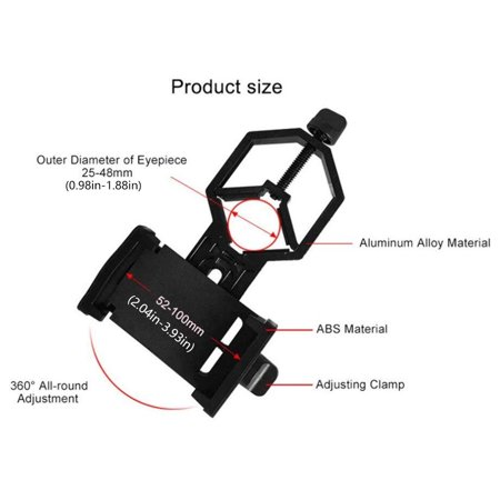 babydream1 Aluminum Alloy Telescope Phone Camera Clamp Clip Monocular Binocular Phone Bracket Holder Mount - image 3 of 9