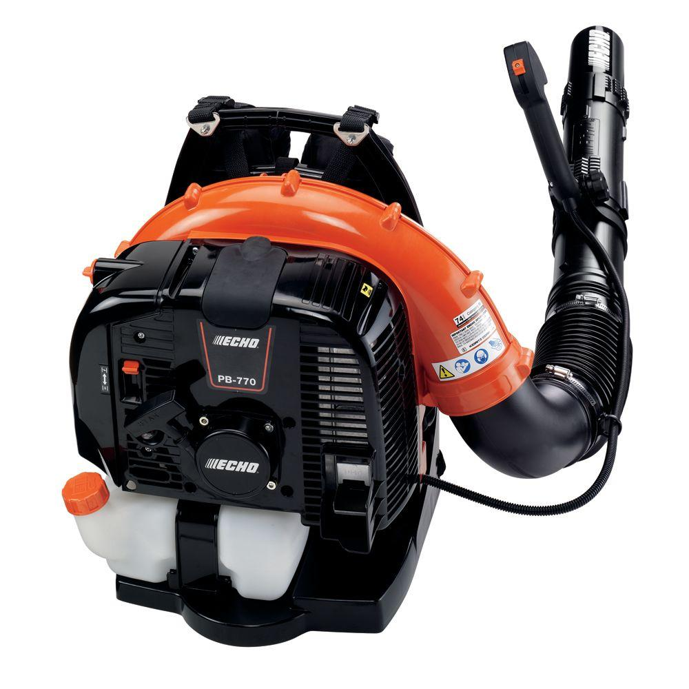 PB-770T - ECHO Backpack Blower - Commercial Grade 63.3 cc, Gas, 756 CFM, 234 MPH, 5-yr Consumer Warranty!
