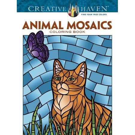 Creative Haven Coloring Books: Creative Haven Animal Mosaics Coloring Book - Mosaic Coloring Books
