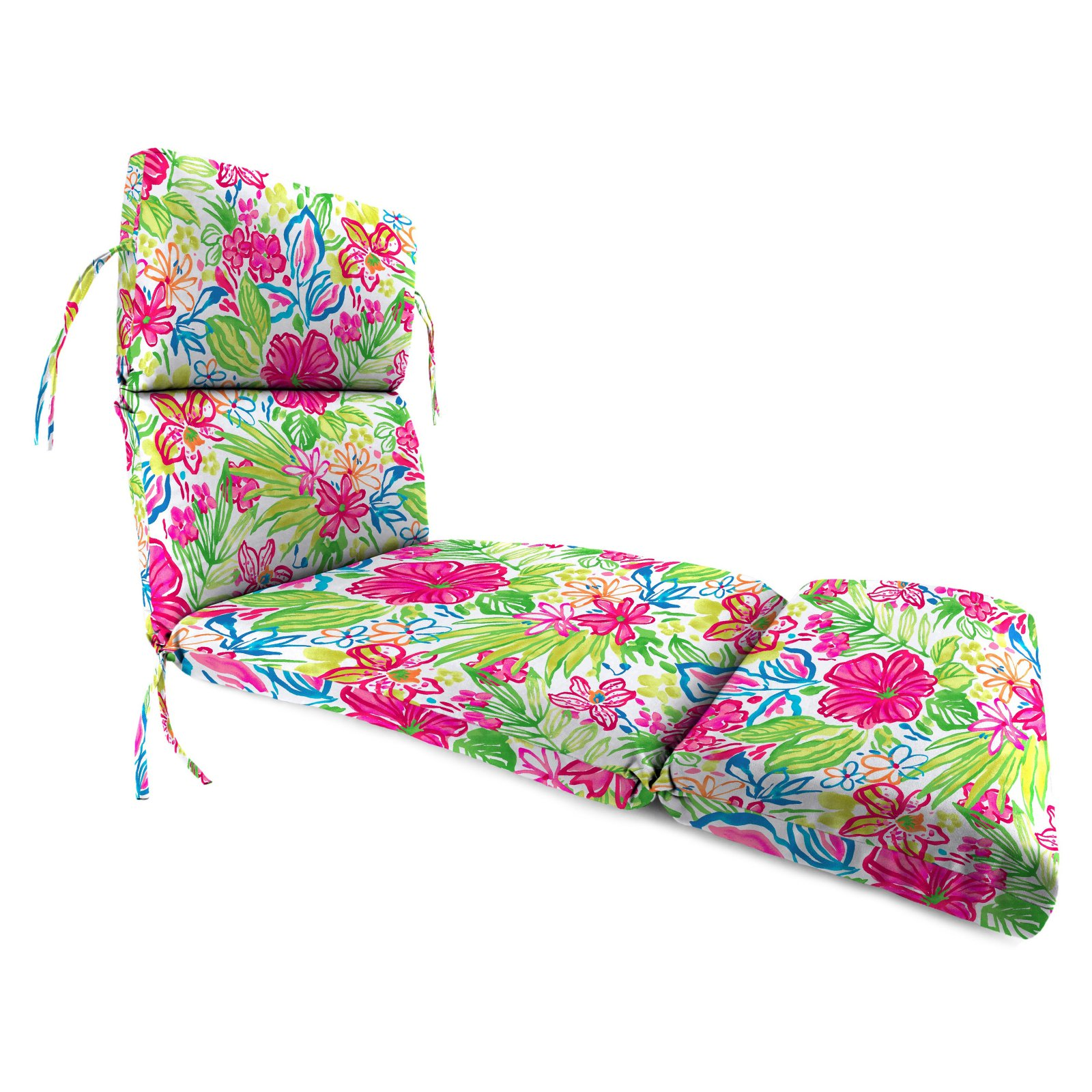 Jordan Manufacturing 74 in. French Edge Outdoor Valeda Chaise Lounge Cushion
