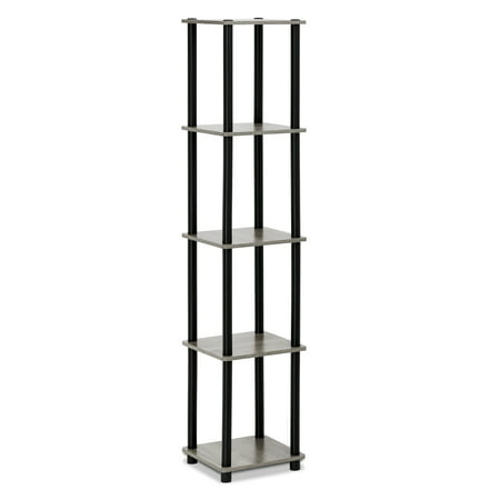 Furinno 99132 Turn-N-Tube 5-Tier Corner Square Display Rack ()