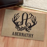 Personalized Doormat - Floral Antlers