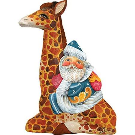 GDeBrekht 63122 Santa On Giraffe Figurine Ornament