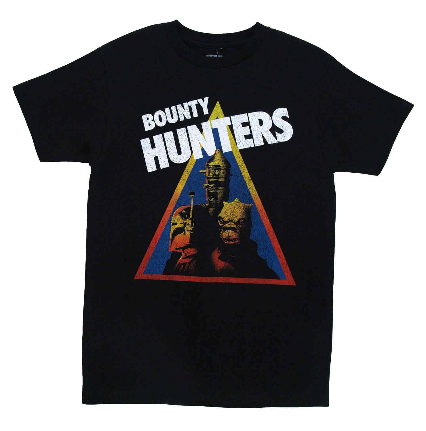 Star Wars Bounty Hunters Triangle Movie Mighty Fine Distressed Adult T-Shirt Tee