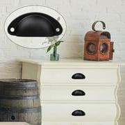 Bin Cup Pulls Cabinet Handles Brushed Black Dresser Pull Handle for Cupboard Drawer Door 15pcs