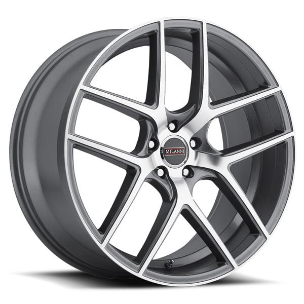 Milanni 9052 Tycoon 20x9 5x120 +15mm Graphite Wheel Rim