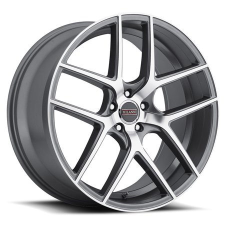"22"" Inch Milanni 9052 Tycoon 22x9 5x115 +20mm Graphite Wheel Rim"