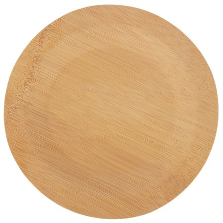 "Brheez Bamboo Disposable 9"" Plates - Eco Friendly Paper & Plastic Alternative - 100% Natural Biodegradable Compostable & Chemical Free - Heavy Duty Elegant Party Plates (Pack of 10)"