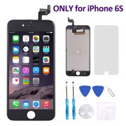 iPhone 6S Screen Replacement (4.7 Inch) Black - Corepair LCD Display Screen + Touch Digitizer Assembly with Full Set Repair Tools and Screen Protector (iPhone 6S Black)