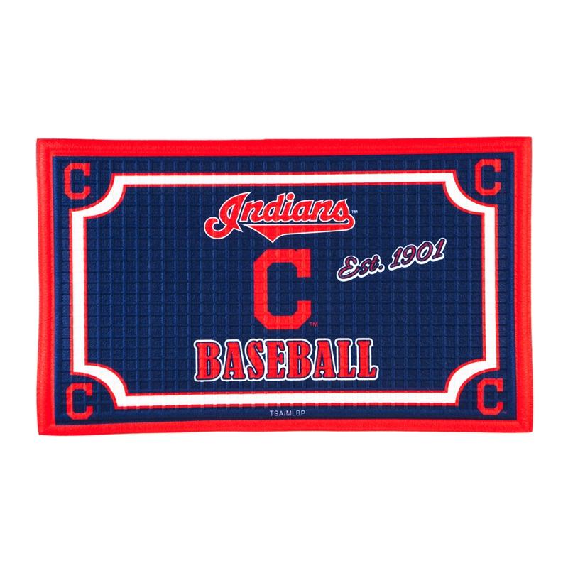 Embossed Door Mat, Cleveland Indians