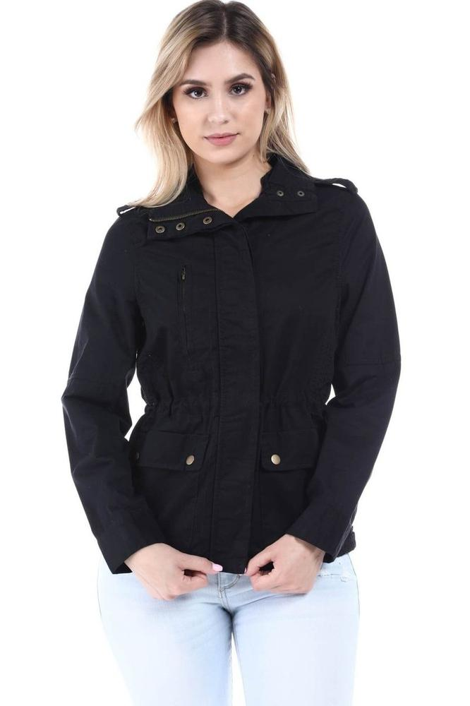 Salt Tree Women/'s Ribbed Zipper Front Long Sleeve Parka Jacket