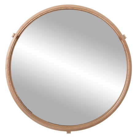 Gold Cut Out Round Wall Mirror 24