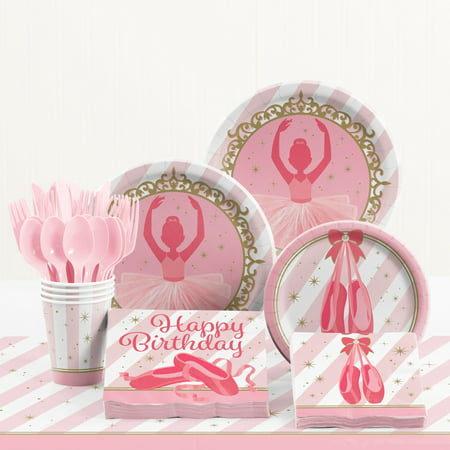 Ballet Decorations Party (Ballet Birthday Party Supplies Kit for 8)
