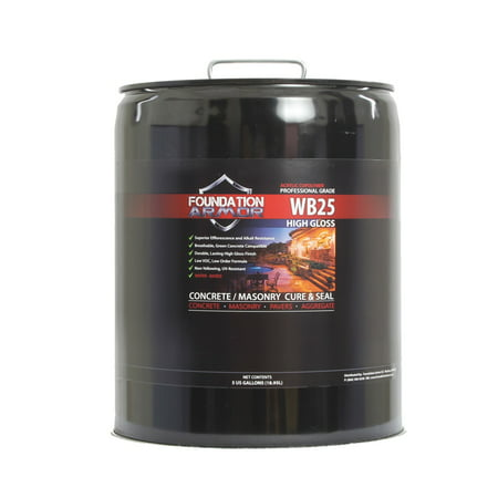 5 Gallon Armor WB25 Water Based Acrylic Cure and Seal for New -