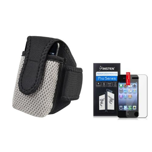 Insten BLACK SPORTS RUNNING ARMBAND CASE POUCH Accessory For Apple iPhone 4 s 4S 4GS 4G