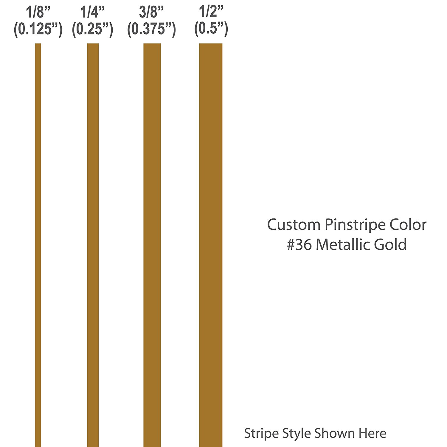 1 4� inch wide Pinstripes.   METALLIC GOLD   car truck auto vehicle door boat bike vinyl sticker pin strip... by 1060 Graphics