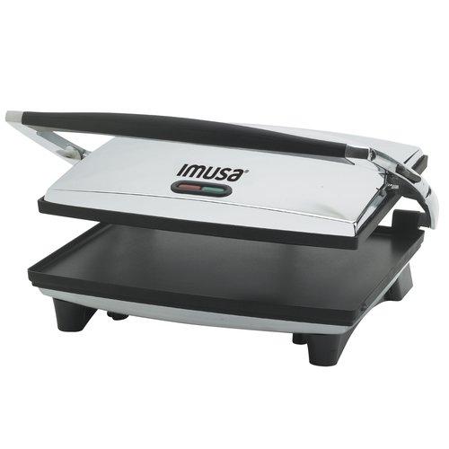 IMUSA GAU-80102 Electric Stainless Steel Panini Press 1400-Watts, Silver