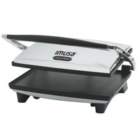 imusa 1400W Electric Stainless Steel Silver Panini Press