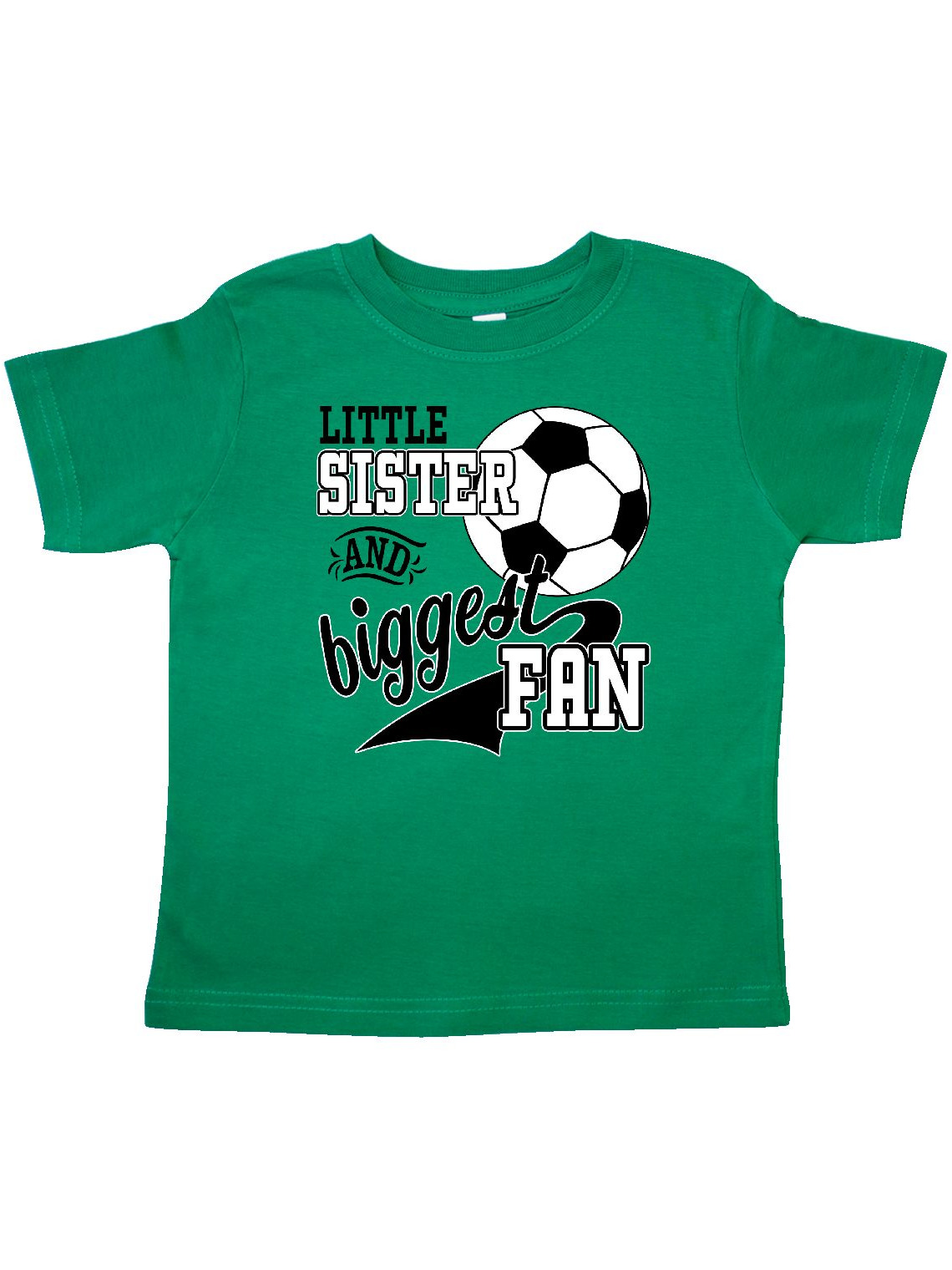 Little Sister and Biggest Fan- soccer player Toddler T-Shirt