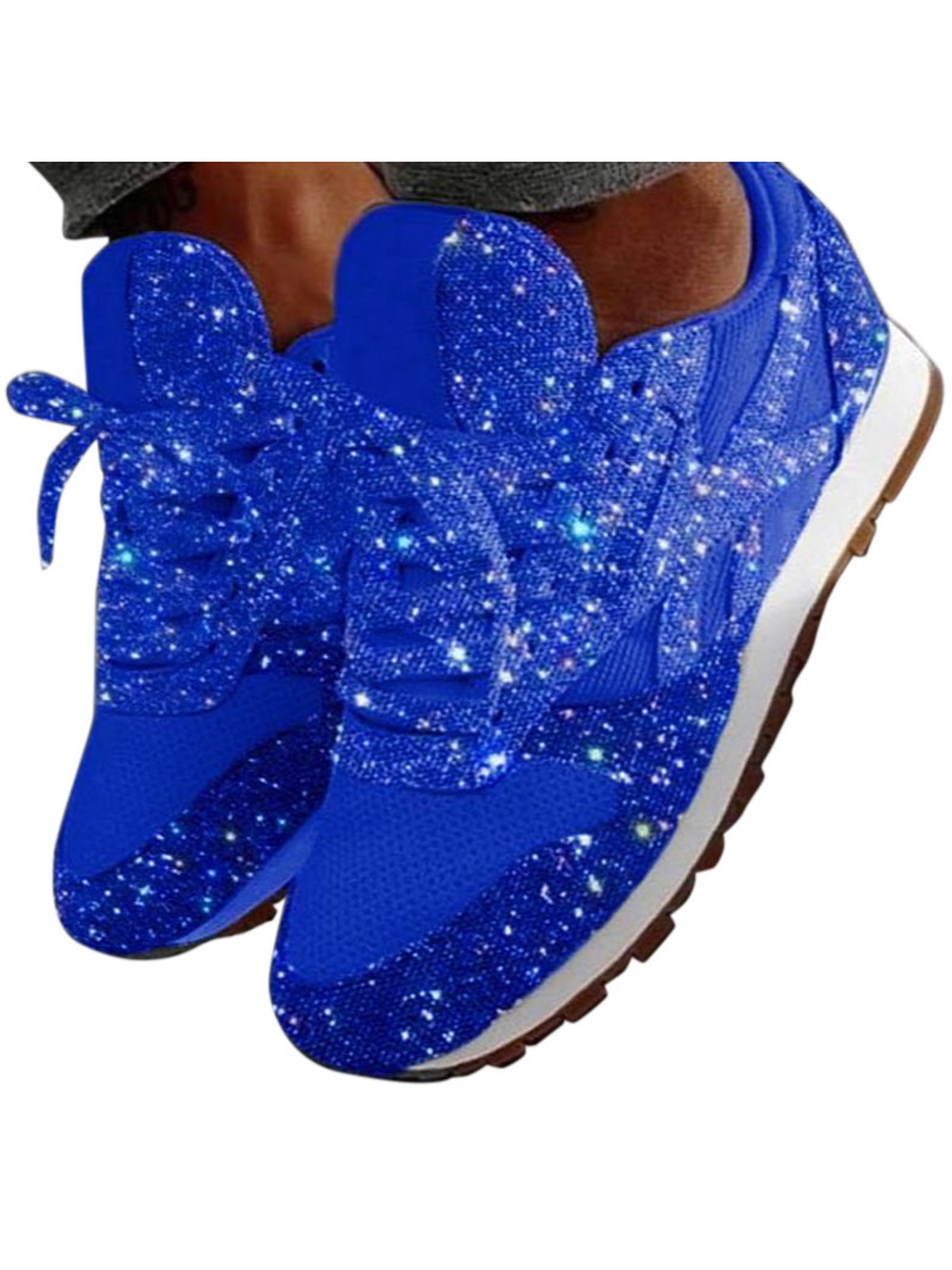 Kids Girl/'s Sequin Sneaker Athletic Tennis Shoes Lace-Up Casual Walking Running