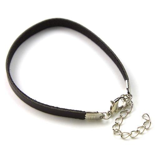 Cousin Wide Suede Bracelet, Brown, 2-Piece