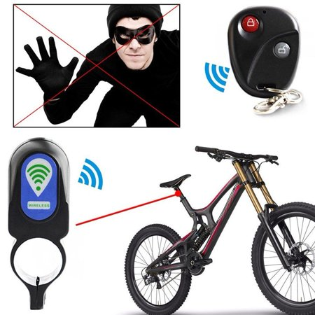 WALFRONT Black ABS Wireless Remote Control Security Vibration Alarm Anti- theft Lock , Bike Remote Alarm,Cycle Anti Theft - Walmart.com