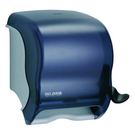 Length Dispenser Included 1 Roll (Sanjamar T950TBK PE Pearl Roll Towel Dispenser, Black - Case of)
