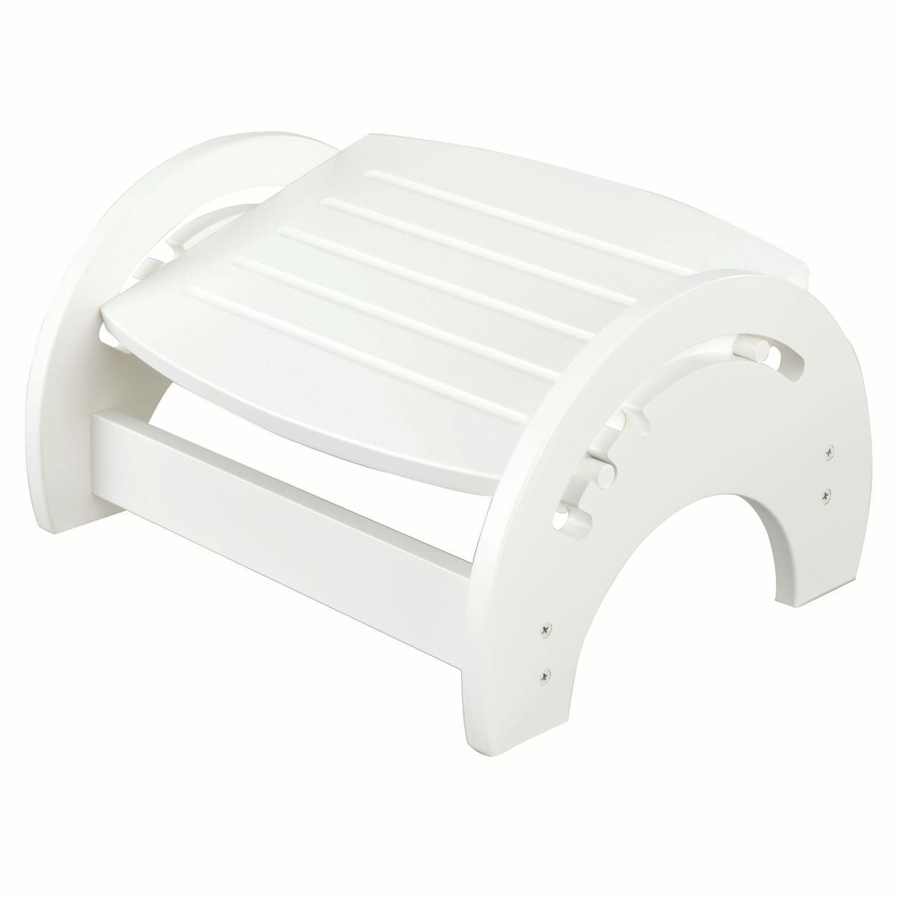 KidKraft Wooden Adjustable Footstool for Nursing with Anti-Slip Pads on Base - White