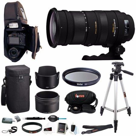 Sigma 50-500mm f/4.5-6.3 APO DG OS HSM Lens for Nikon w/ Deluxe Accessory Bundle
