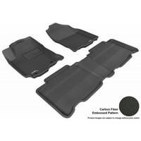 3D MAXpider 2013-2018 Toyota Rav4 Kagu 1st Row 2nd Row Black Carbon Fiber Embossed Pattern Floor Mat L1TY12701509