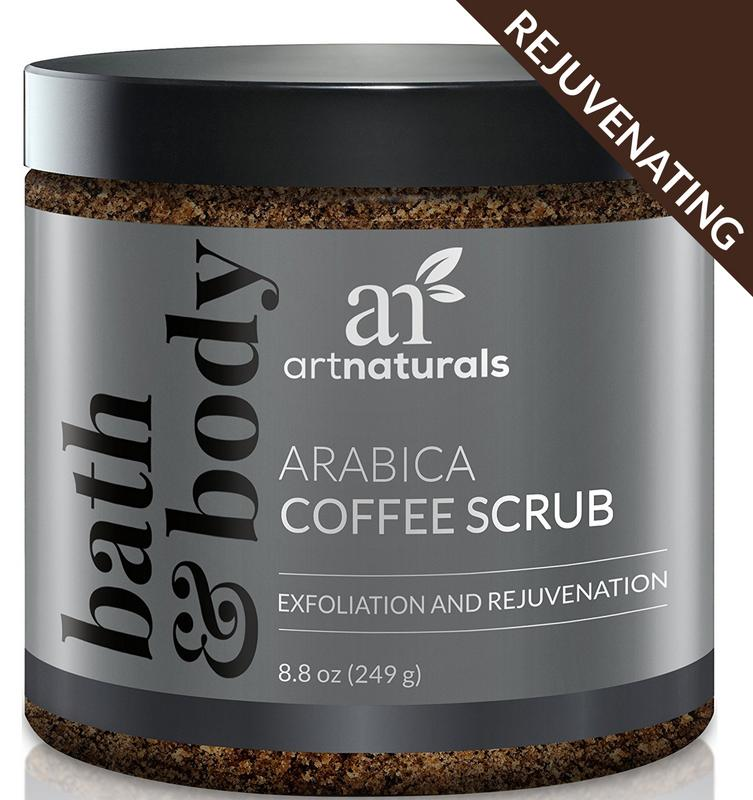 Arabica Coffee Scrub (8oz) - Natural Spa Facial Cleanser for Deep Exfoliation