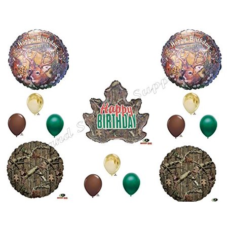 MOSSY OAK DEER HUNTING Birthday Balloons Decoration Supplies Party Camouflage](Hunting Party Supplies)