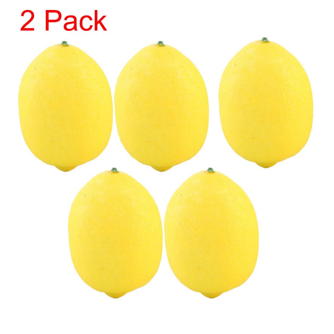 Unique Bargains Photo Background Decor Foam Artificial Lemon Design Emulation Fruit Mold
