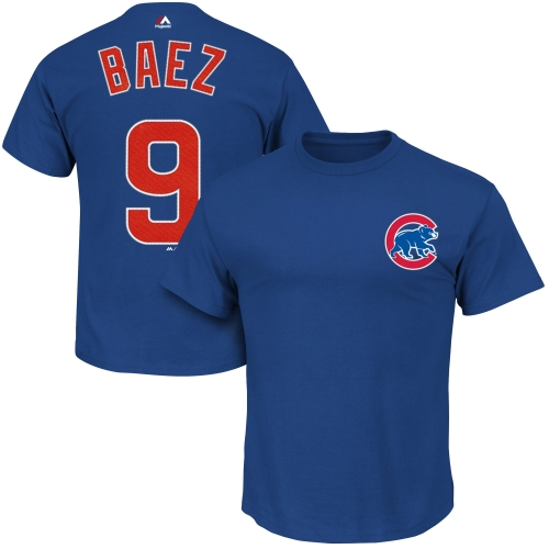 Javier Baez Chicago Cubs Majestic Official Name and Number T-Shirt - Royal