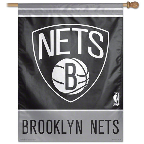 NBA - Brooklyn Nets 27x37 Vertical Banner