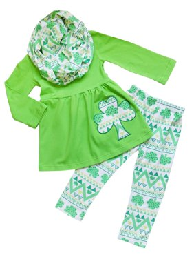 Toddler Girls St. Patrick's Day 2 Piece or 3 Piece Boutique Outfits So Sydney