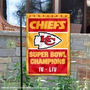 KC Chiefs Super Bowl 2 Time Champions Double Two Sided Garden Flag