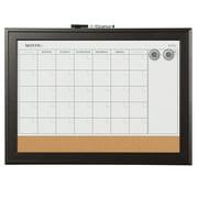 Quartet Magnetic Combination Calendar Board, Espresso Frame (79275)