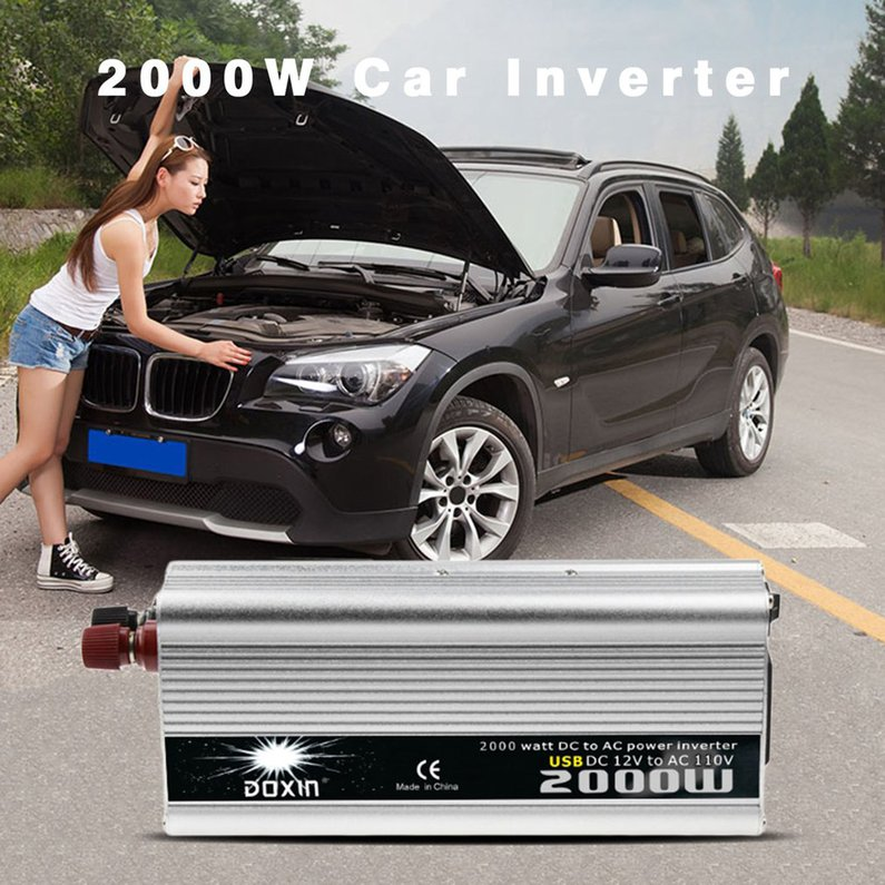 NEW Upgraded 2000W DC to AC Power Converter DC 12V to 110...