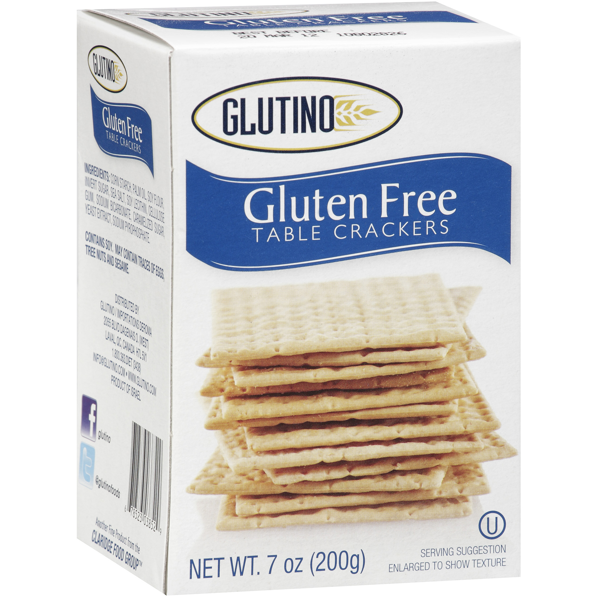 Glutino® Gluten Free Original Table Crackers 7 oz. Box