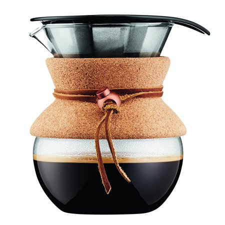 Pour Over Coffee Maker with Permanent Filter , 17 Oz., Cork