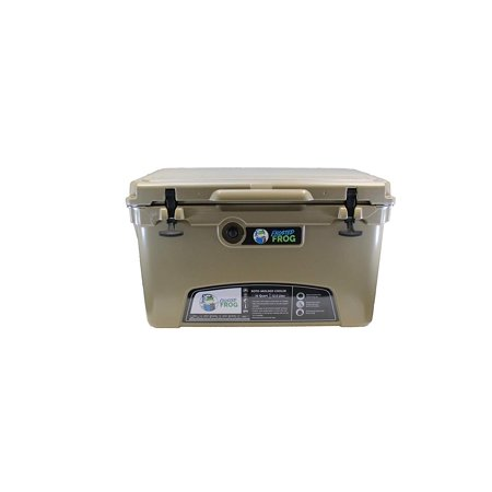 Frog Chest (Frosted Frog Tan 75 Quart Ice Chest Heavy Duty High Performance Insulated Cooler)