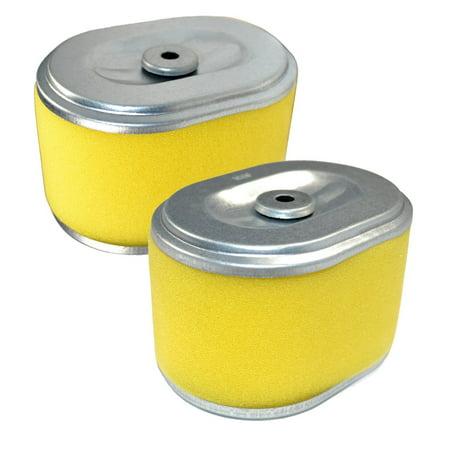 Image of HQRP 2-pack Air Filter Element for Troy-Bilt 21A-665B766 (2012) Pro Line FRT Tiller, 17210-ZE1-517 Replacement + HQRP Coaster