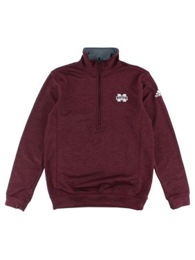 6f8cb3bb Product Image Adidas Mens Mississippi Climawarm Team Issue Quarter Zip  Jacket Heather Maroon