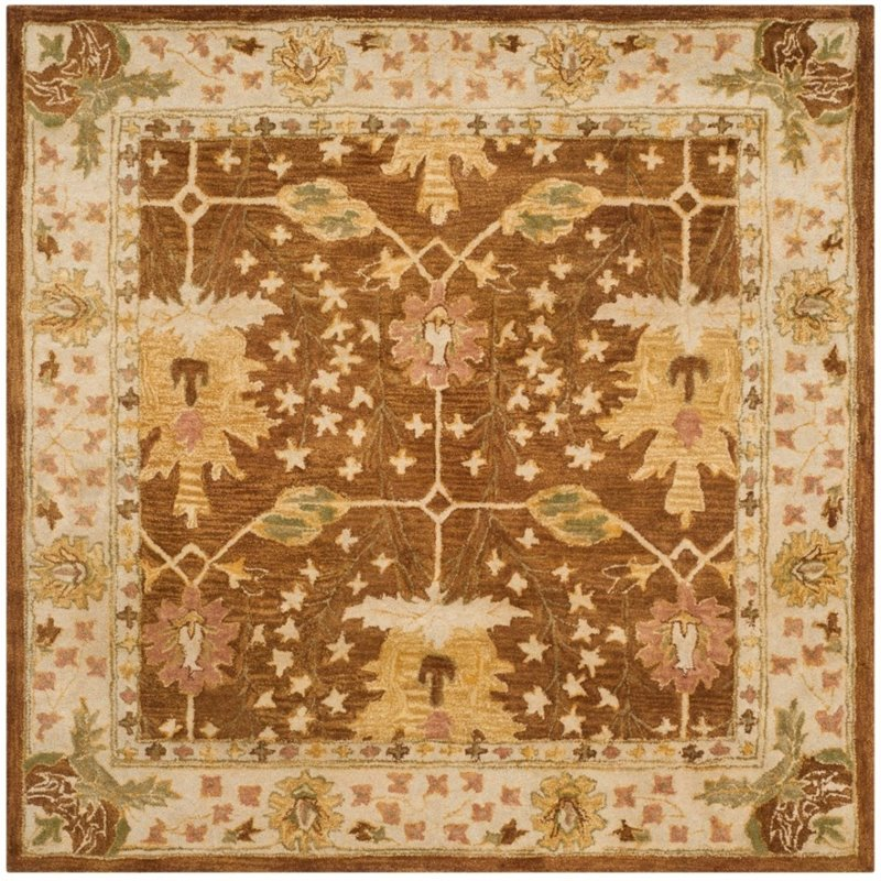 Safavieh Antiquity 6' Square Hand Tufted Wool Rug