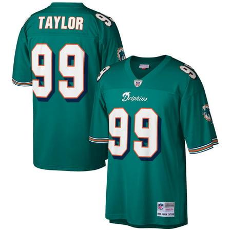 Miami Dolphins Jersey - Jason Taylor Miami Dolphins Mitchell & Ness Retired Player Legacy Replica Jersey - Aqua